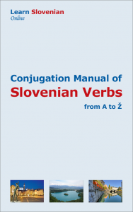 The Conjugation Manual of Slovenian Verbs is a practical and language learning tool. It will help to find all conjugations for many of the verbs in Slovenian. It includes all forms for present, past and future tenses, as well as the conditional and imperative.